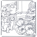 Christmas coloring pages - X-mas presents