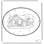 Christmas coloring pages - X-mas prickingcard 15