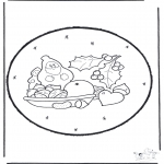 Christmas coloring pages - X-mas prickingcard 17
