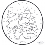 Christmas coloring pages - X-mas prickingcard 18