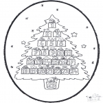 Christmas coloring pages - X-mas prickingcard 20