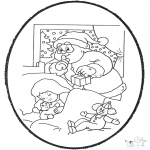Christmas coloring pages - X-mas prickingcard 21