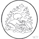 Christmas coloring pages - X-mas prickingcard 22