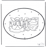 Christmas coloring pages - X-mas prickingcard 23