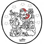 Christmas coloring pages - X-mas prickingcard 25