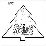 Christmas coloring pages - X-mas prickingcard 26