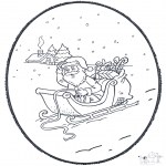 Christmas coloring pages - X-mas prickingcard 4