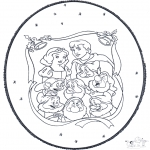 Christmas coloring pages - X-mas prickingcard 5