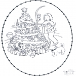 Christmas coloring pages - X-mas prickingcard 7