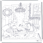 Christmas coloring pages - X-mas scene