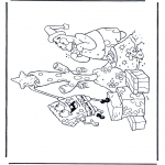 Christmas coloring pages - X-mas Spongebob 2