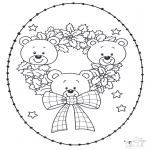 Christmas coloring pages - X-mas stitchingcard 14