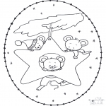 Christmas coloring pages - X-mas stitchingcard 15