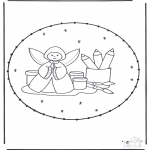 Christmas coloring pages - X-mas stitchingcard 19