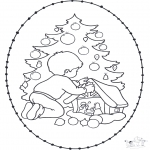 Christmas coloring pages - X-mas stitchingcard 20
