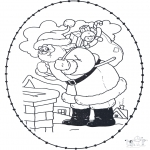 Christmas coloring pages - X-mas stitchingcard 21