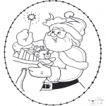 Christmas coloring pages - X-mas stitchingcard 22
