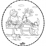 Christmas coloring pages - X-mas stitchingcard 24