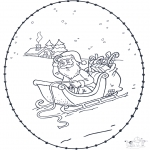 Christmas coloring pages - X-mas stitchingcard 3
