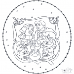 Christmas coloring pages - X-mas stitchingcard 4