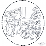Christmas coloring pages - X-mas stitchingcard 7