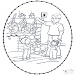 Christmas coloring pages - X-mas stitchingcard 8