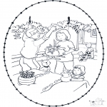 Christmas coloring pages - X-mas stitchingcard 9