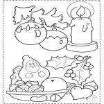 Christmas coloring pages - X-mas things