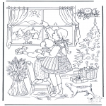 Christmas coloring pages - X-masstar