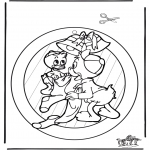 Christmas coloring pages - Xmas windowpicture 1