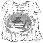 Theme coloring pages - Your birthday