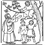 Bible coloring pages - Zacchaeus and Jesus